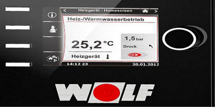 Wolf boiler lcd panel